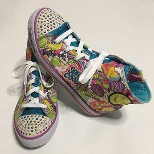 Skechers Stay Cool Twinkle Toes Sneakers Size 3.5